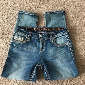 Rock Revival Easy Crop Jeans